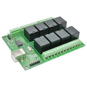 Numato 8 Channel USB Relay Module, External Power Supply